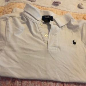 White polo shirt sleeve shirt
